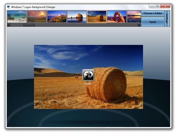 Tela de logon do Windows 7 Logon Background Changer