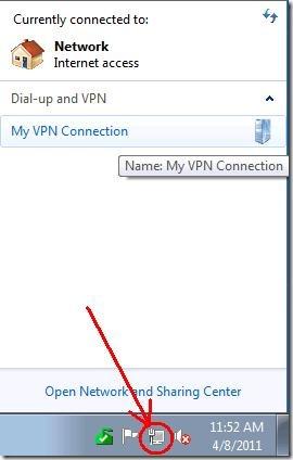 Verificando a conexão VPN.
