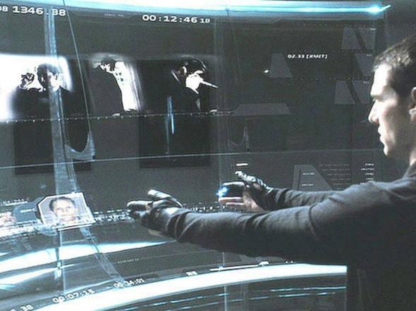 Tecnologia exibida no filme Minority Report