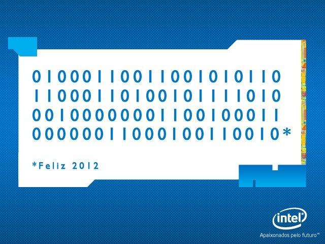 Feliz 2012 em código binário
