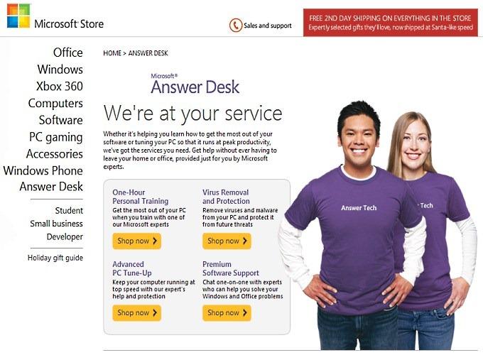 Microsoft Suporte - Answer Desk