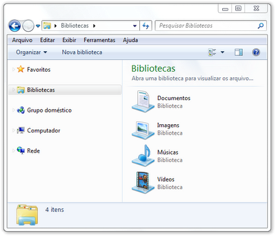 Bibliotecas do Windows Explorer