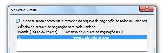 """""""Gerenciar automaticamente o tamanho do arquivo de paginação de todas as unidades"""