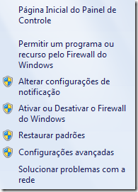Painel do Firewall